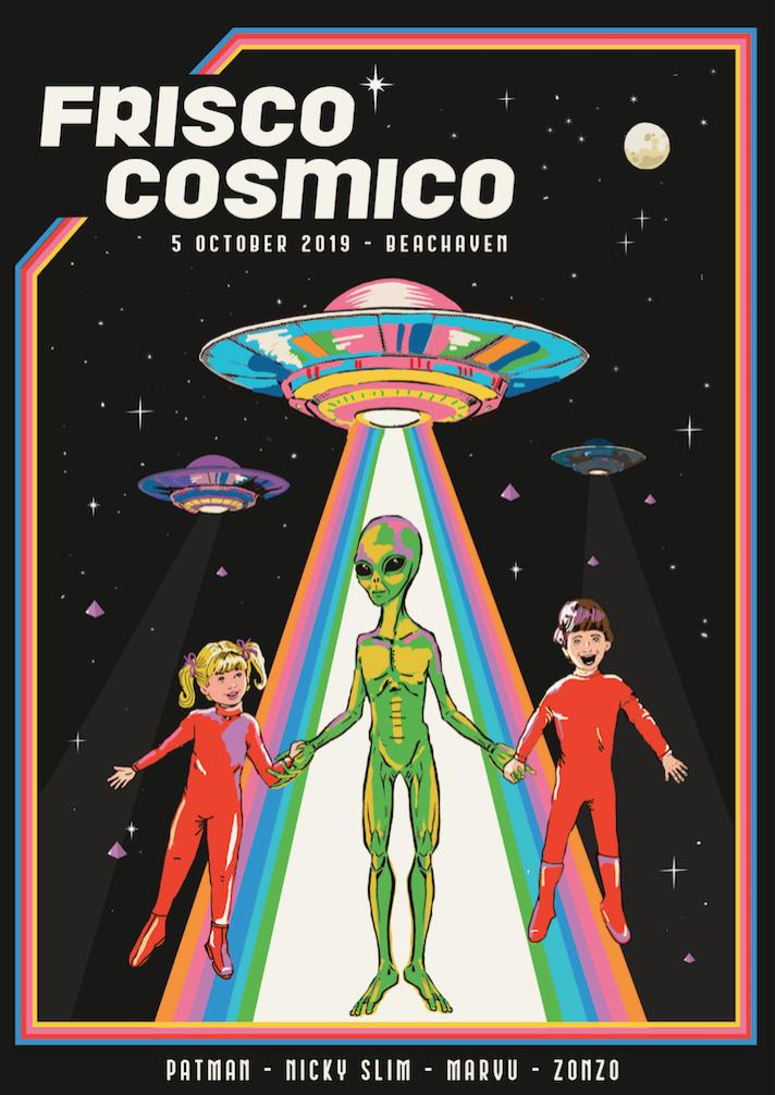 FRISCO COSMICO flyer