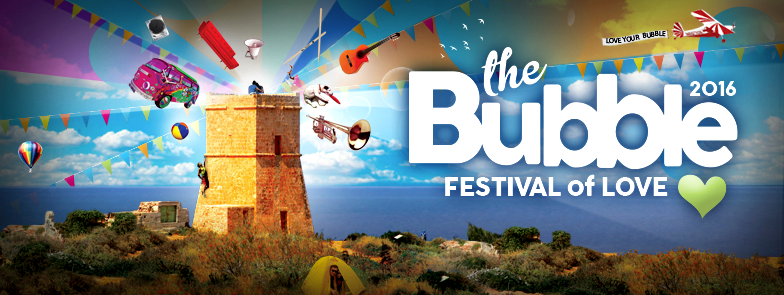 The Bubble 2016 – A Festival of LOVE flyer