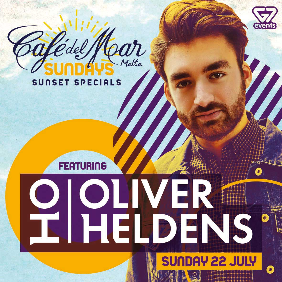 Oliver Heldens at Café Del Mar flyer