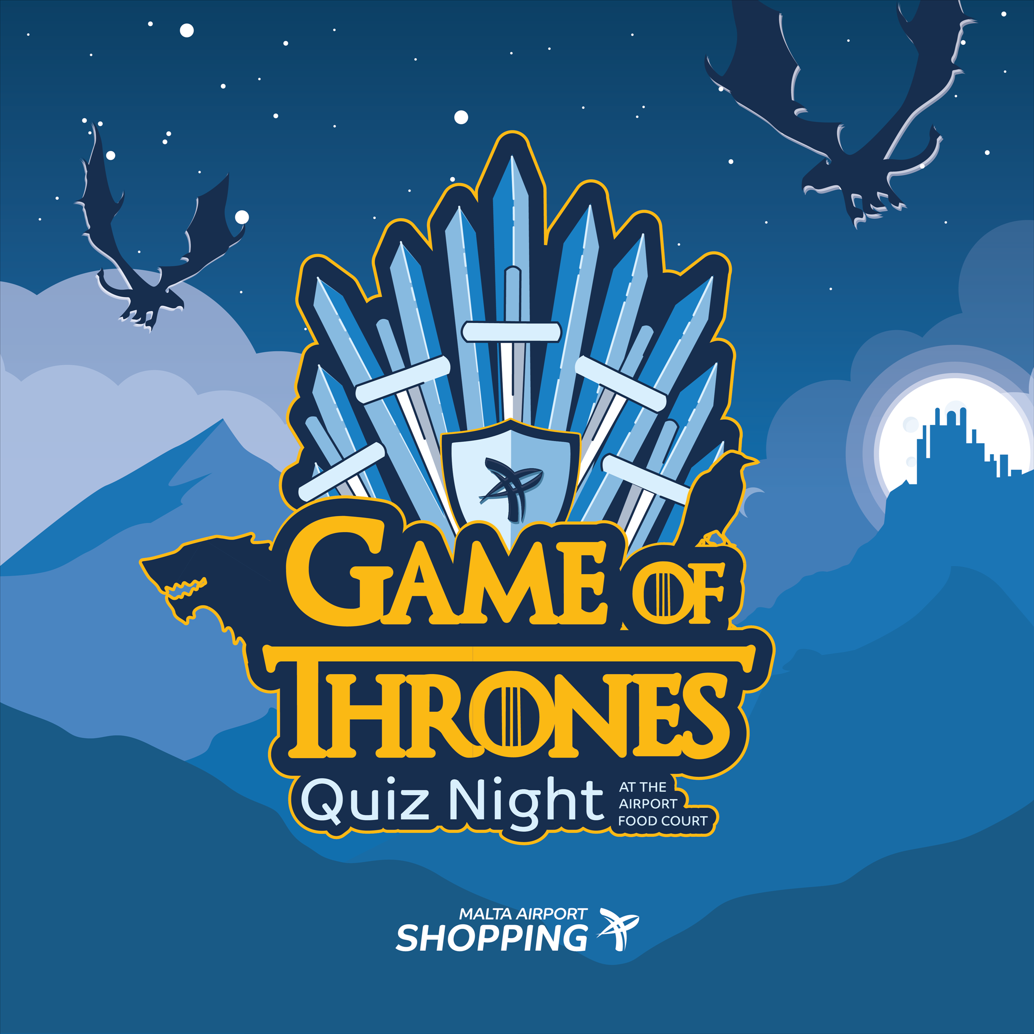 Game of Thrones Quiz Night at the Airport Food Court flyer