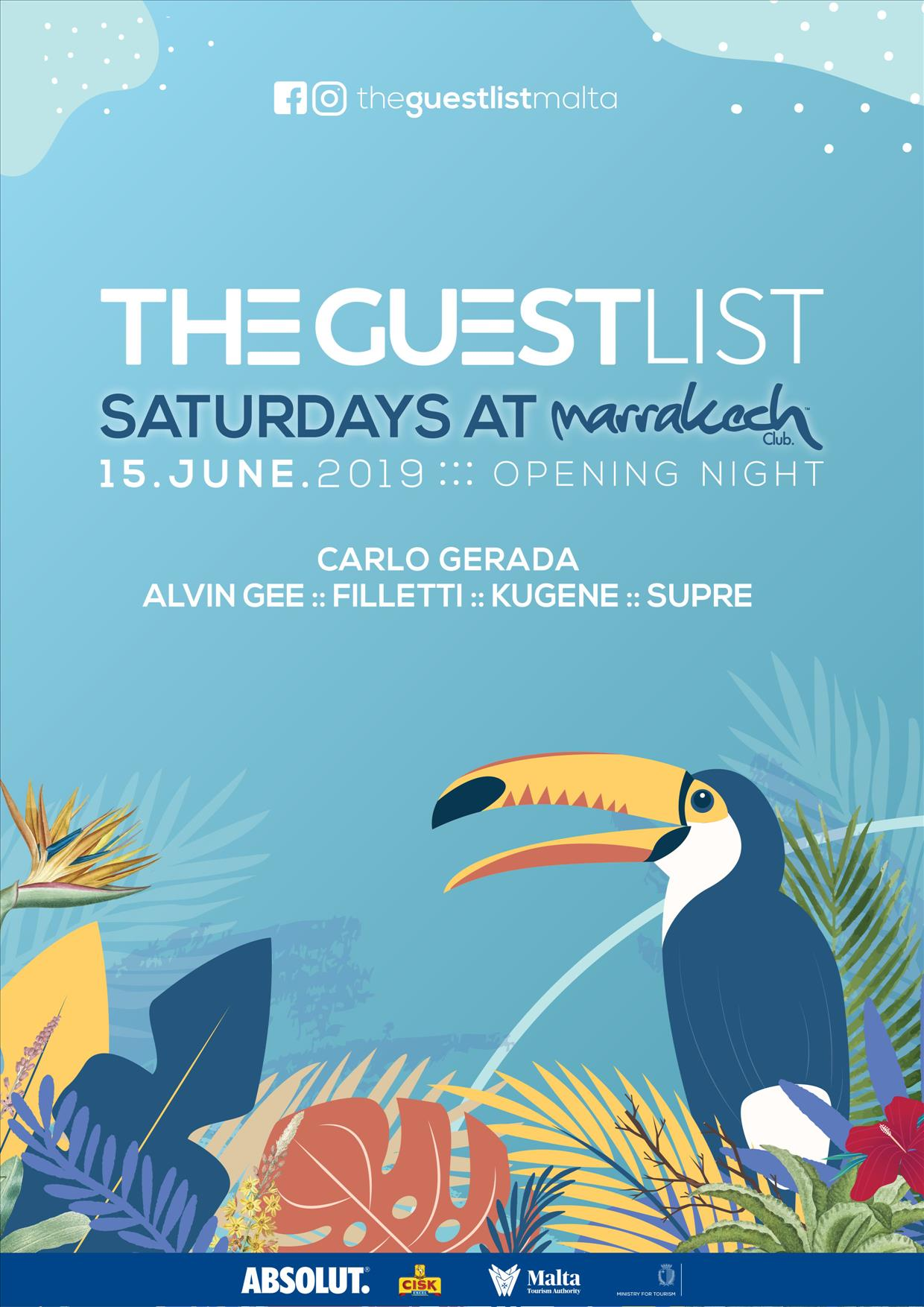The Guest List :: Saturdays at Marrakech :: flyer