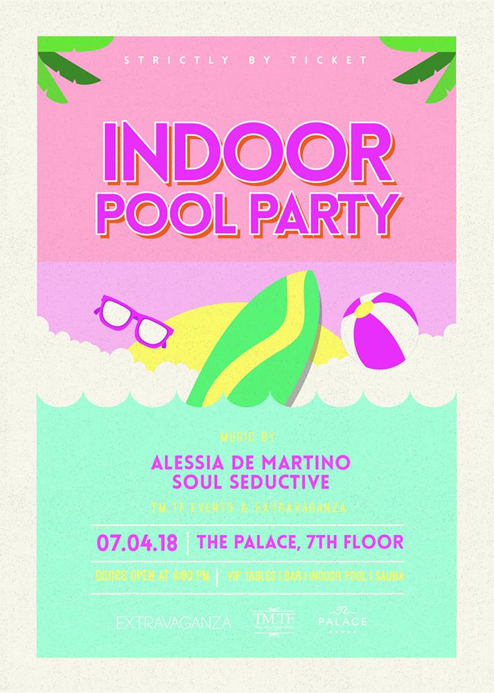 Indoor Pool Party flyer