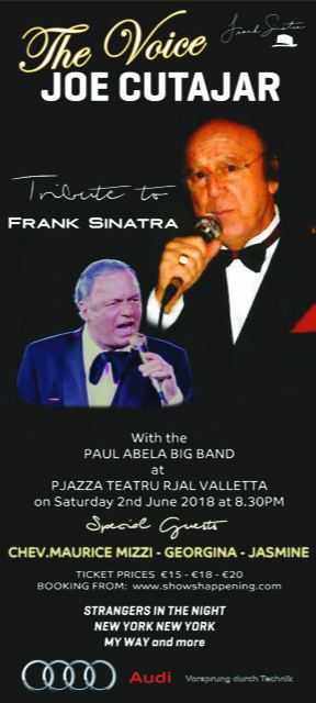 The Voice Joe Cutajar - Tribute to Frank Sinatra flyer
