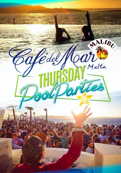 Cafè del Mar Thursday Pool Party flyer