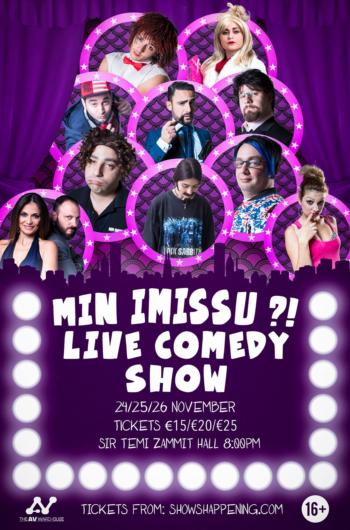 Min Imissu Live Comedy Show flyer