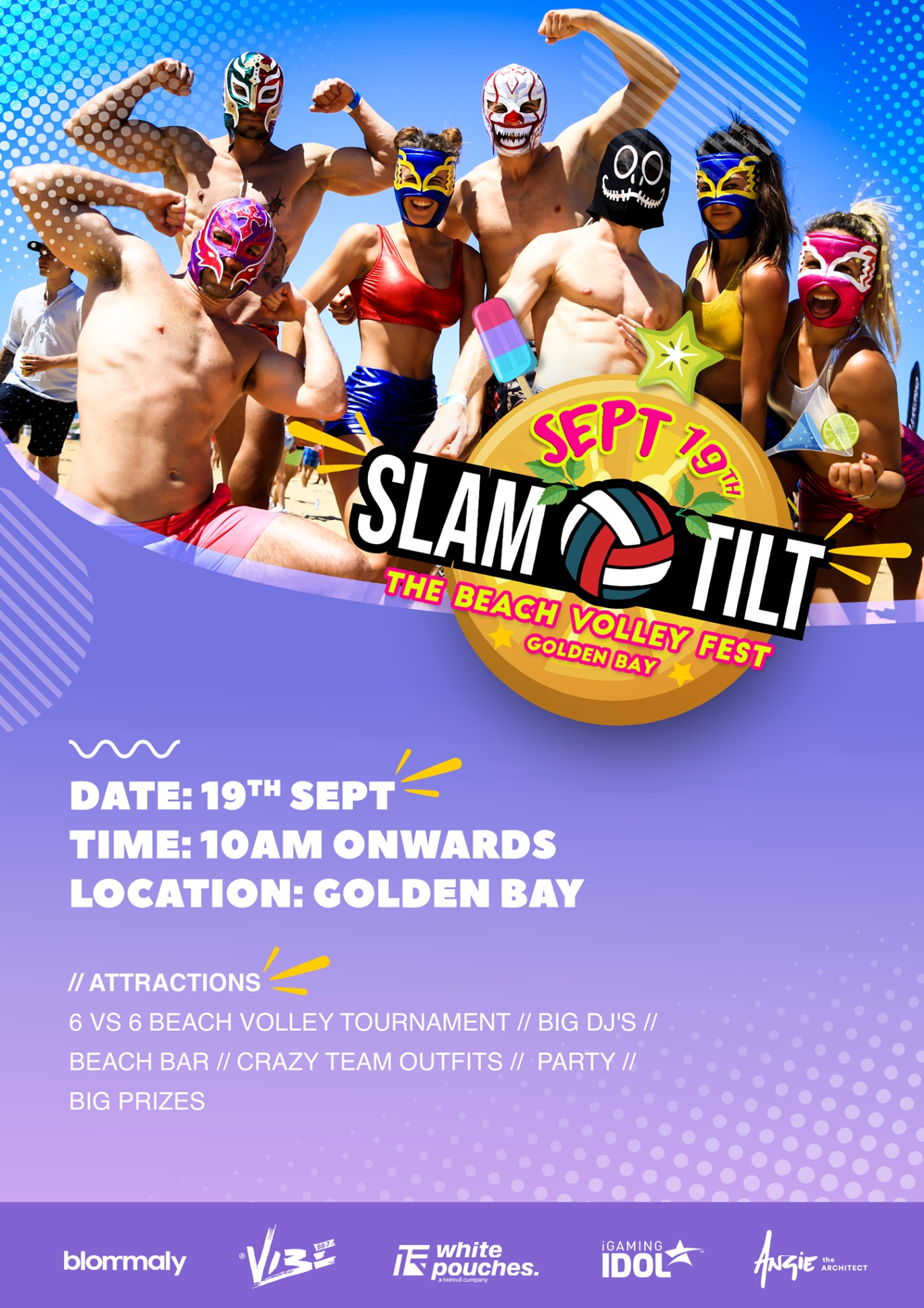 Slam tilt - The Beach Volley Fest flyer