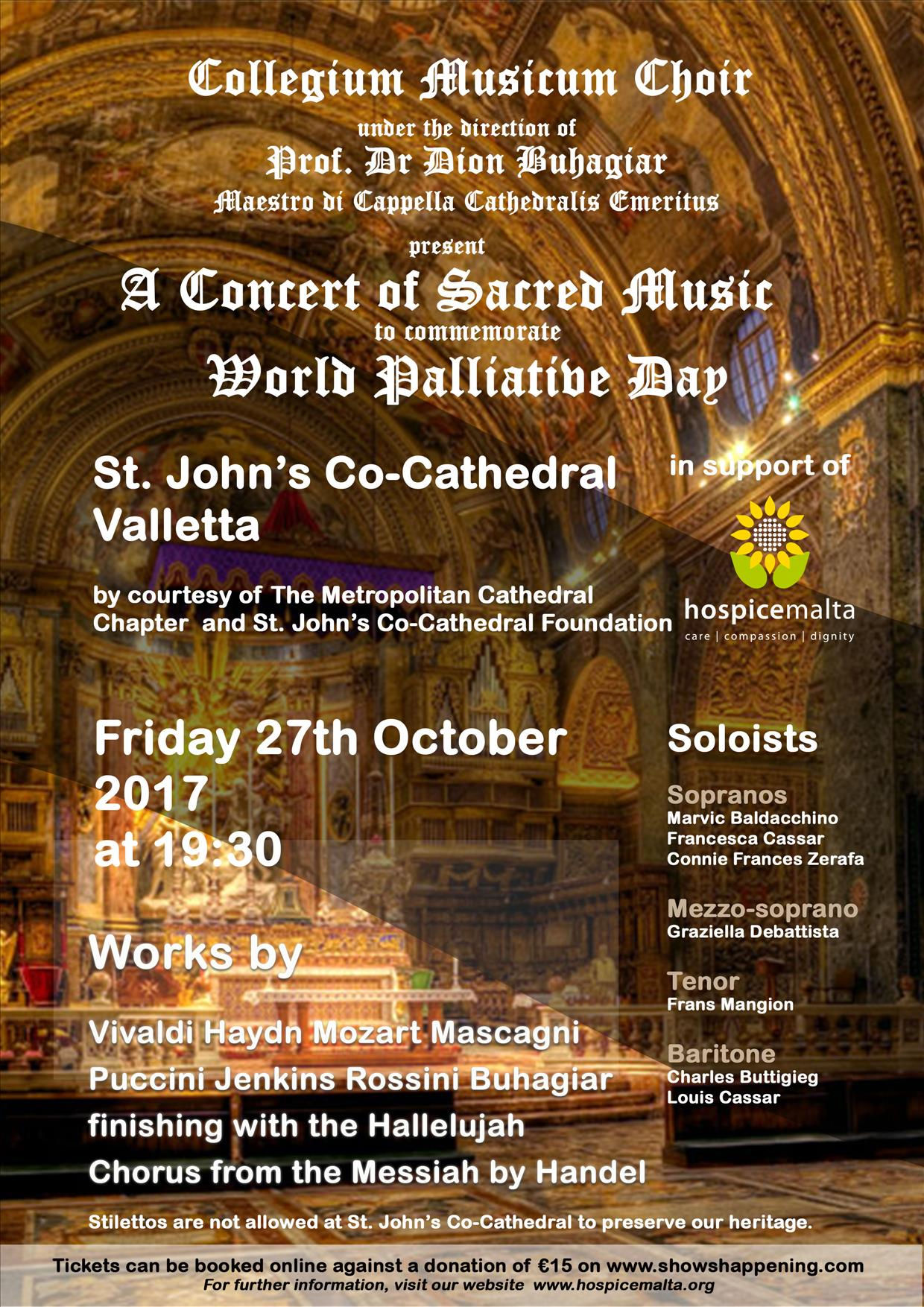 A Concert of Sacred Music flyer