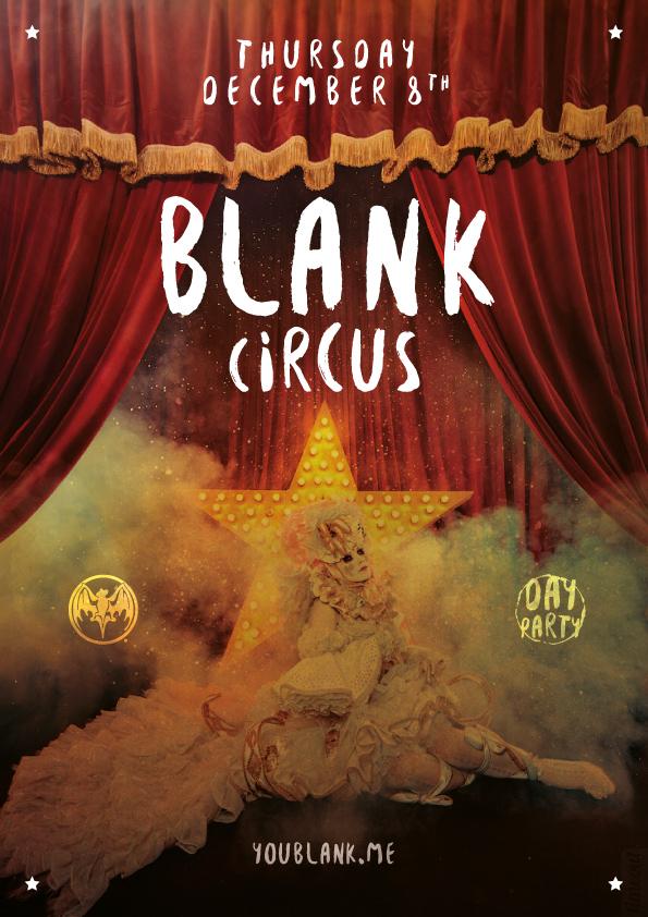 BLANK Circus flyer