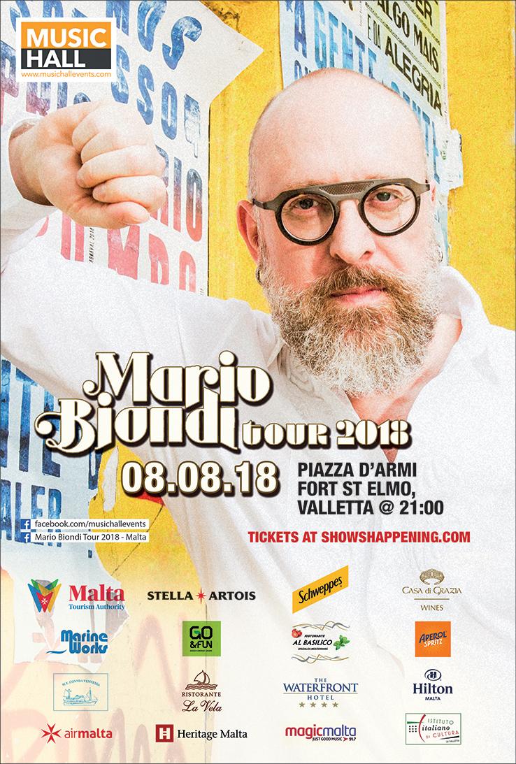 Mario Biondi Tour 2018 flyer