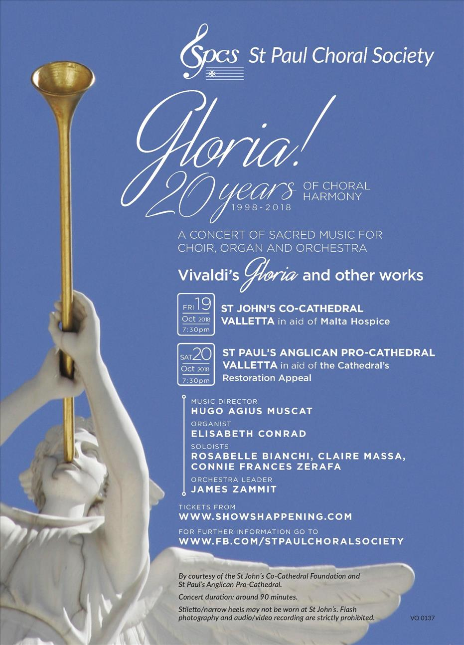 Gloria! 20 Years of Choral Harmony - Vivaldi's Gloria and other sacred works (SPCS 20th Anniversary Concert)
