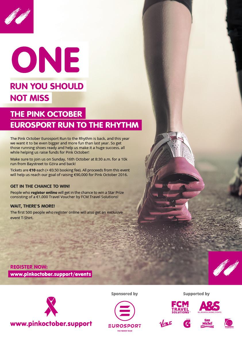 The Pink October Eurosport Run to the Rhythm 2016 flyer