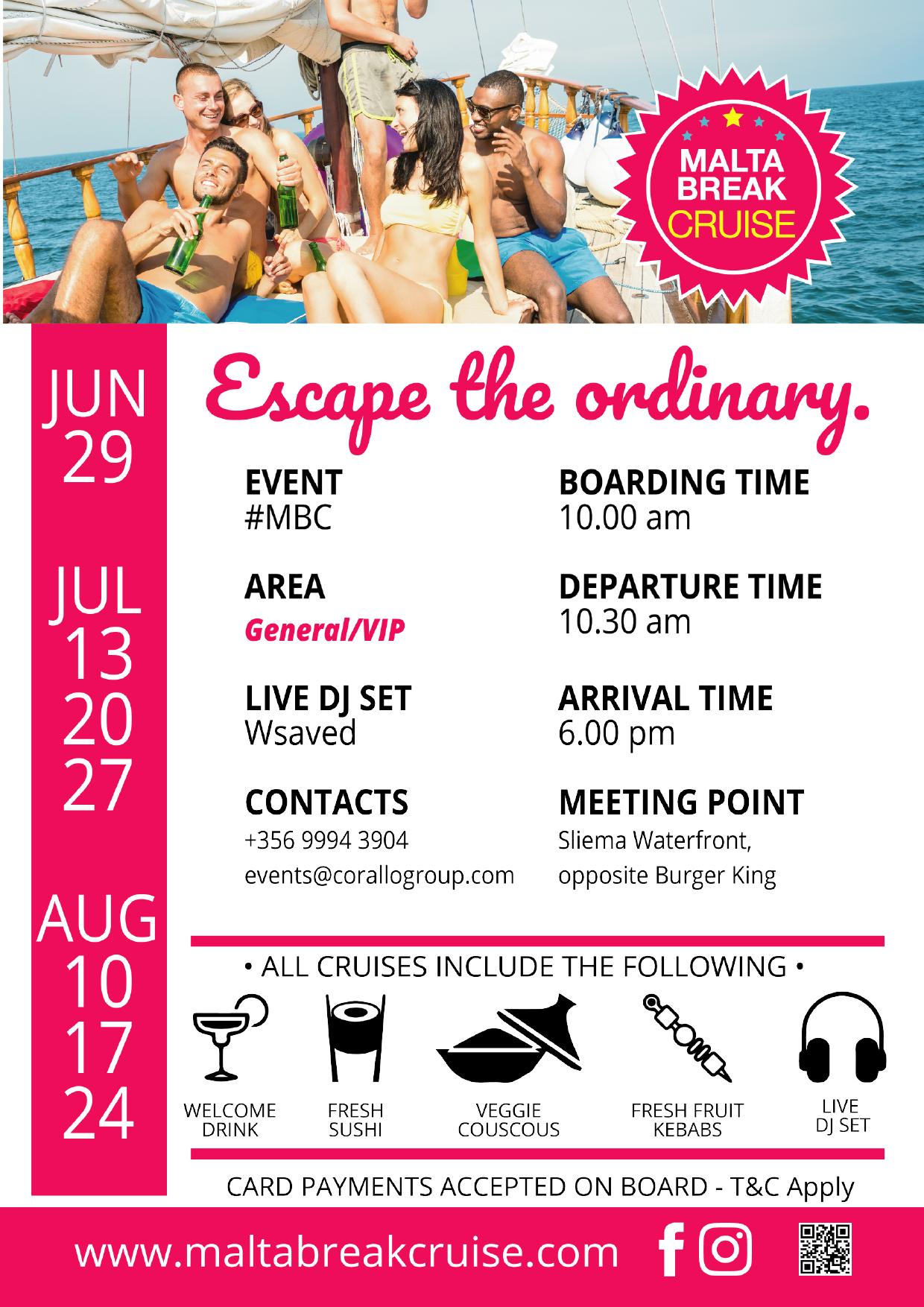 Malta Break Cruise flyer