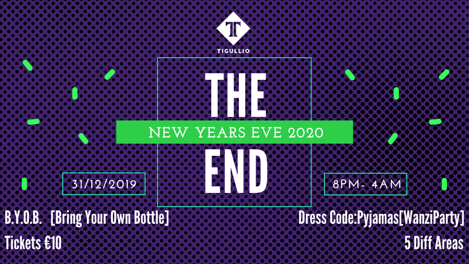The End-New Year's Eve flyer