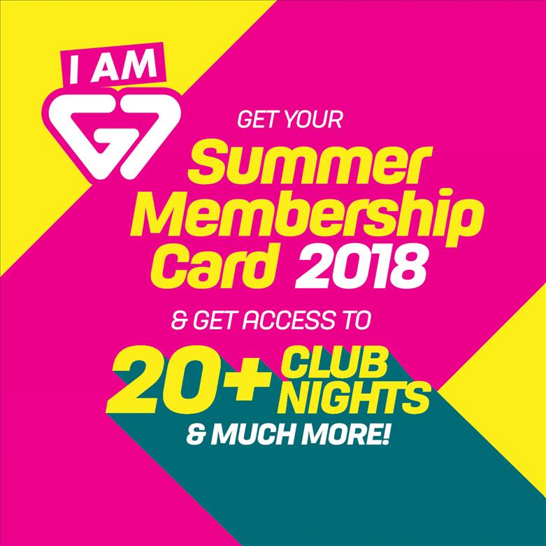 G7 Summer Membership Card 2018 flyer