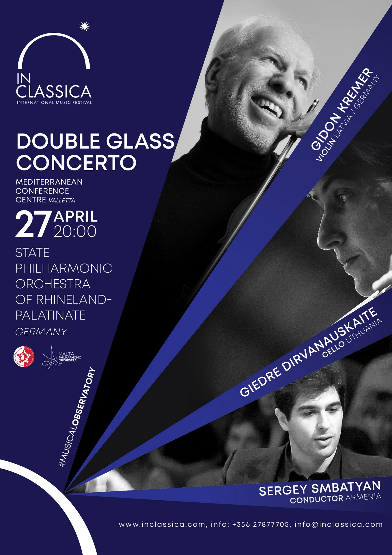 DOUBLE GLASS CONCERTO flyer