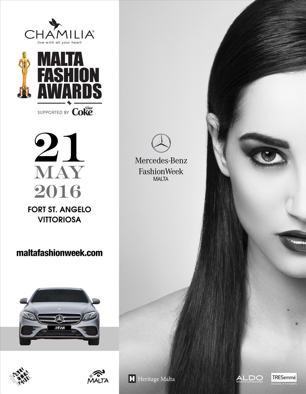 The Chamilia Malta Fashion Awards 2016 flyer