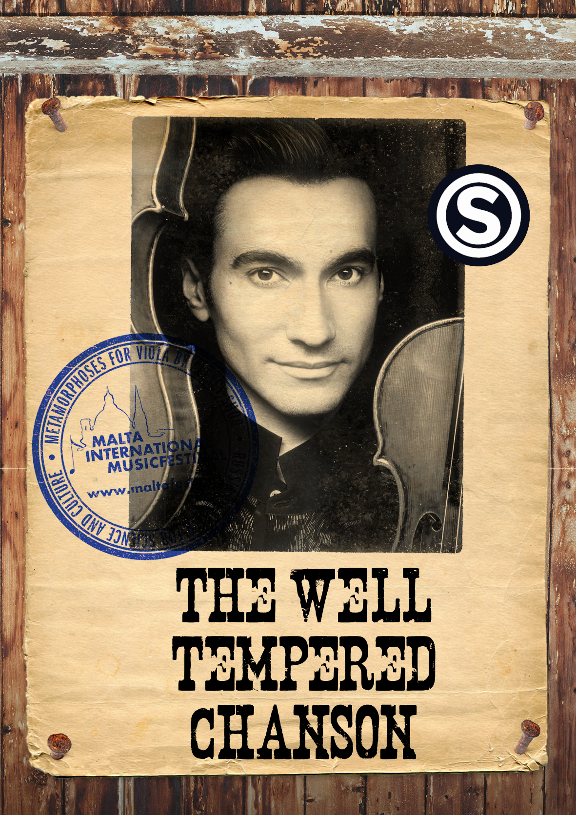 THE WELL TEMPERED CHANSON - David Aaron Carpenter Viola flyer