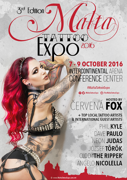 Malta Tattoo Expo 2016 flyer