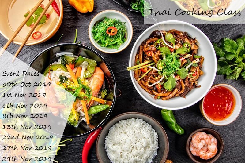 Thai Cooking Class flyer