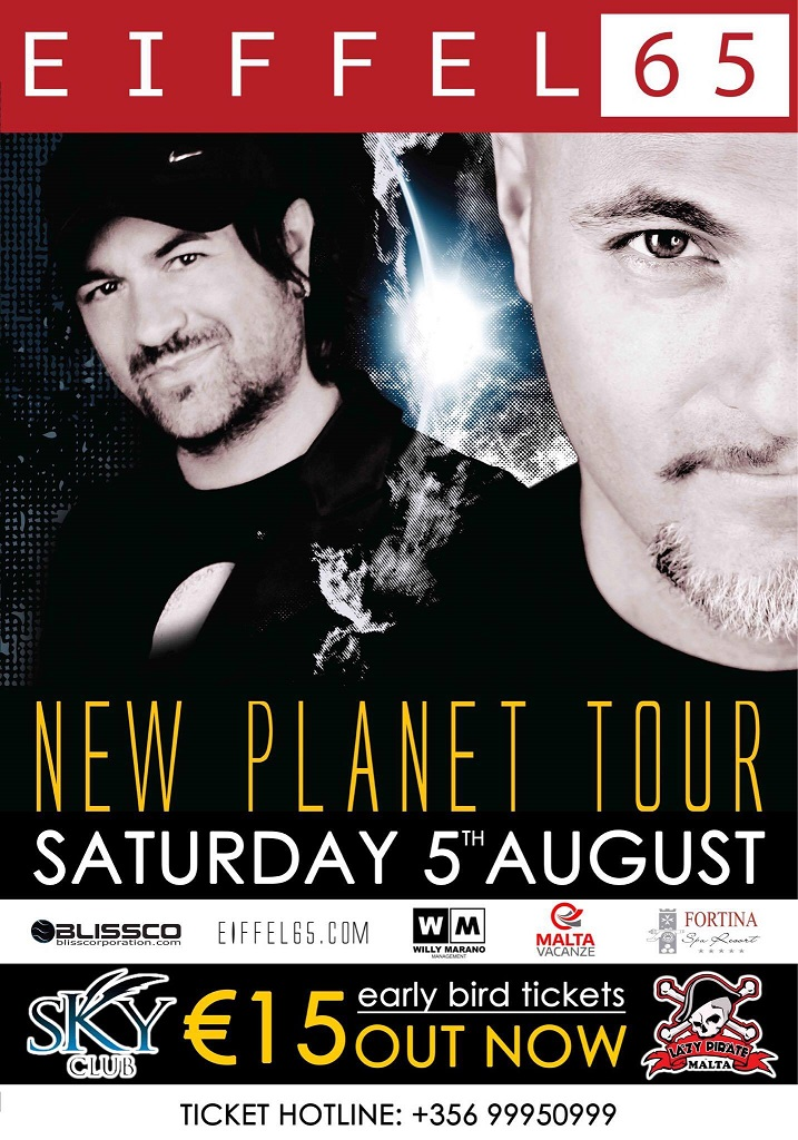 EIFFEL 65 - New Planet Tour flyer