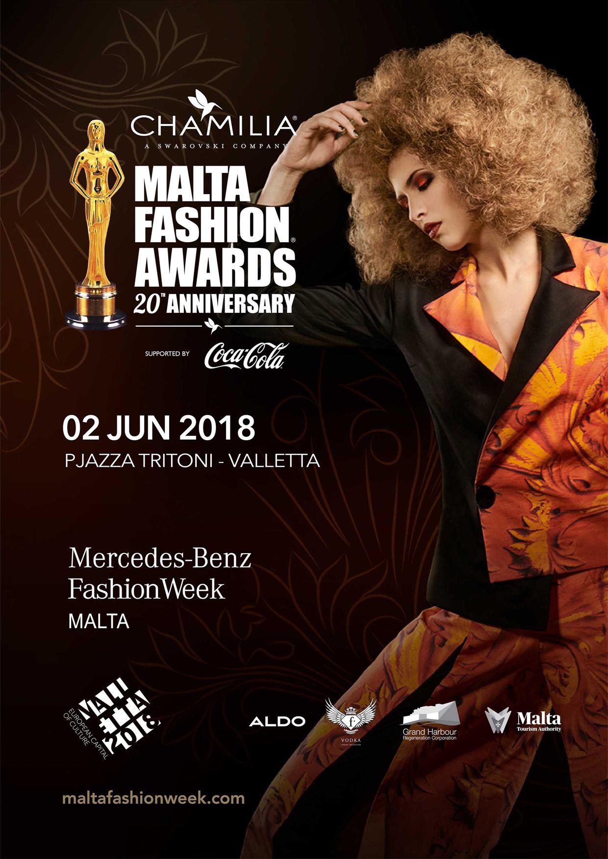 The Chamilia MALTA FASHION AWARDS flyer
