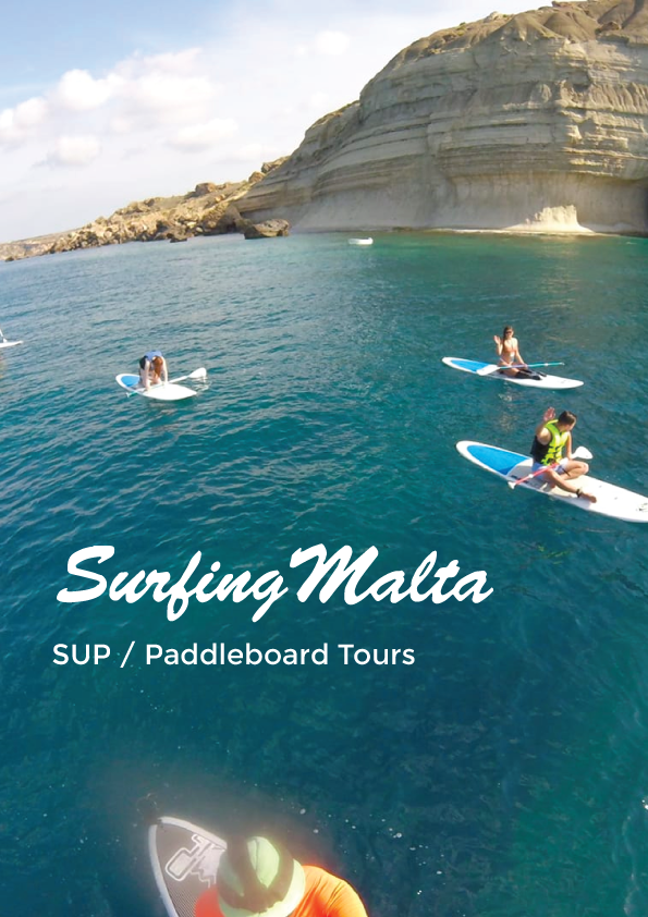 SUP / Paddleboard Tours - Surfing Malta poster