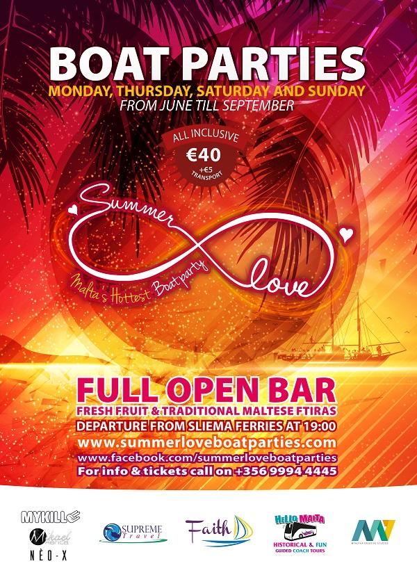 Summer Love Boat Parties flyer