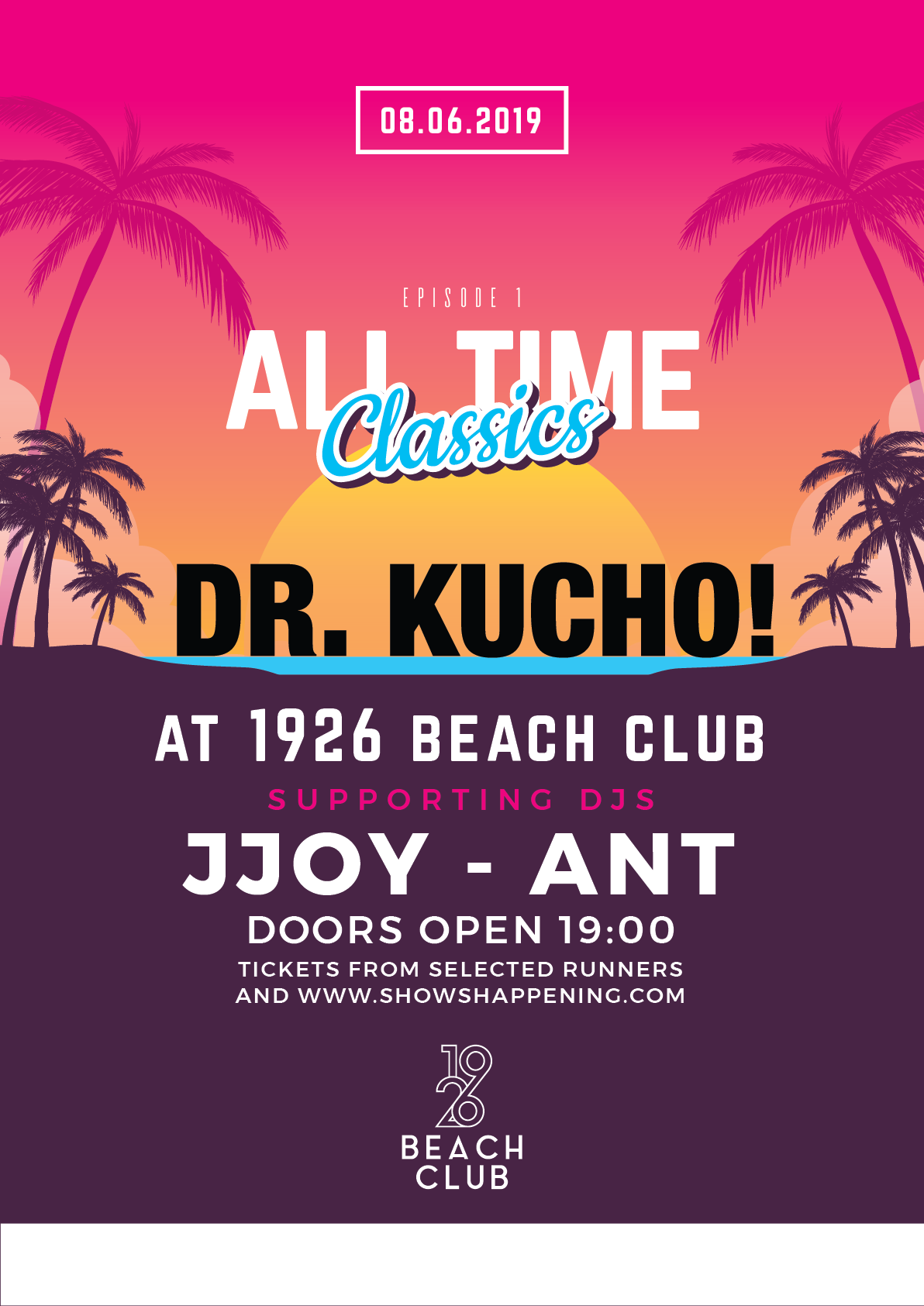 All Time Classics ft DR.KUCHO flyer