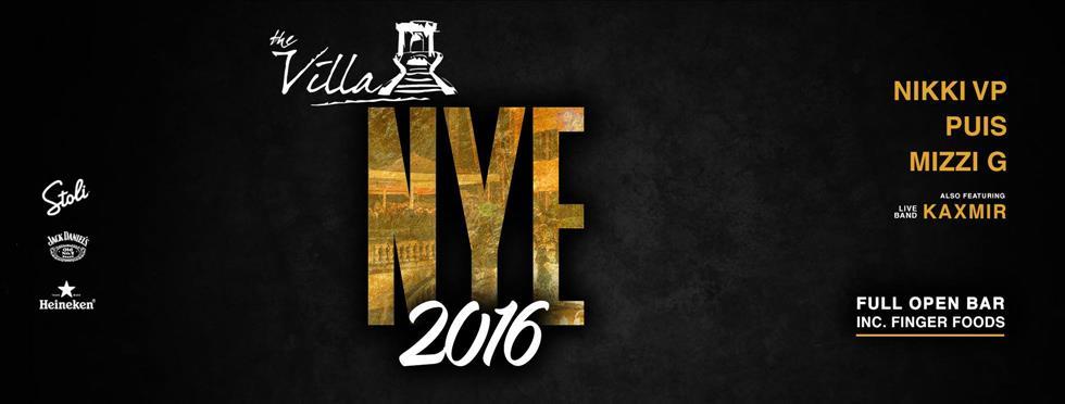 The Villa NYE 2016 flyer