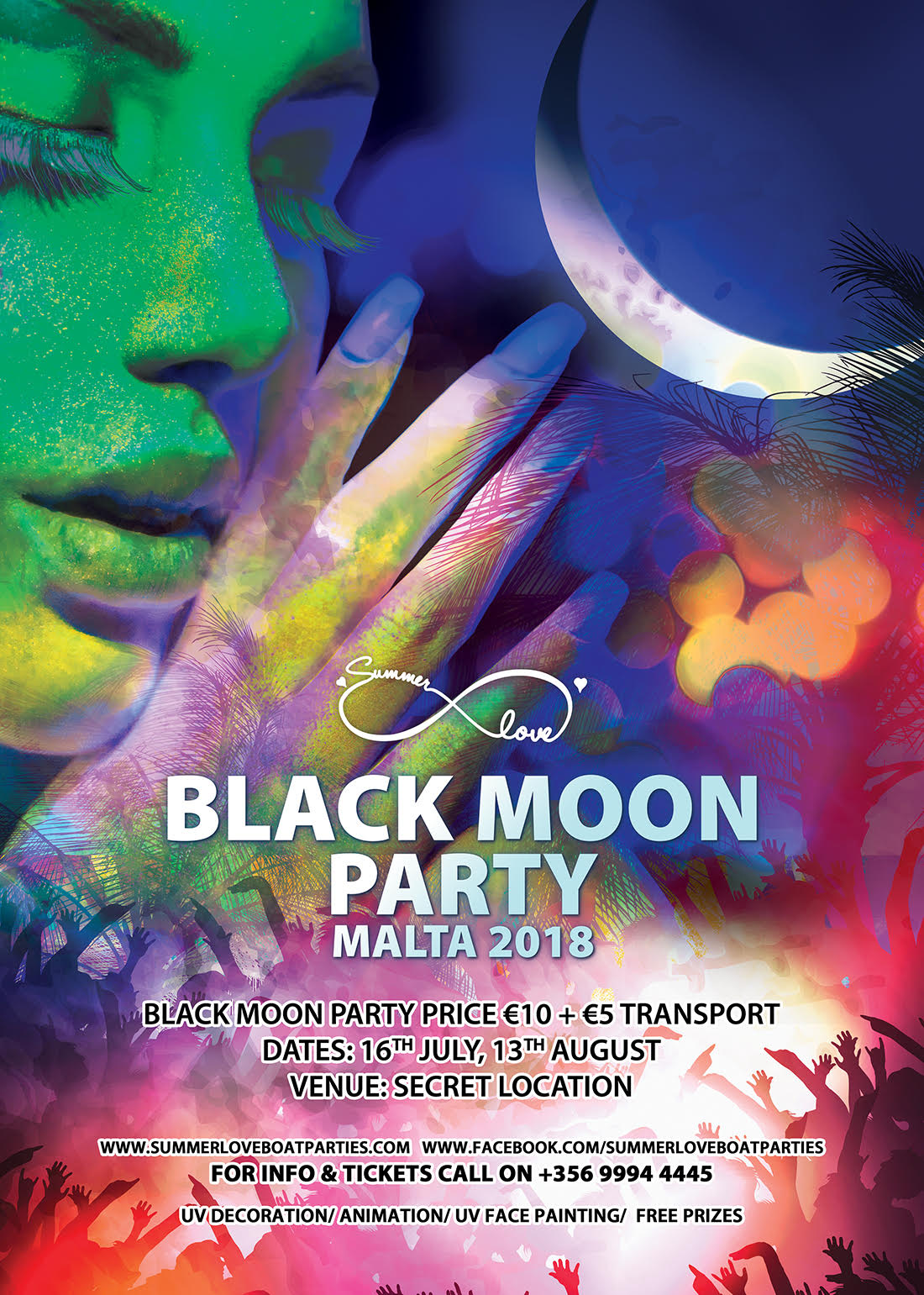 Black Moon Party flyer