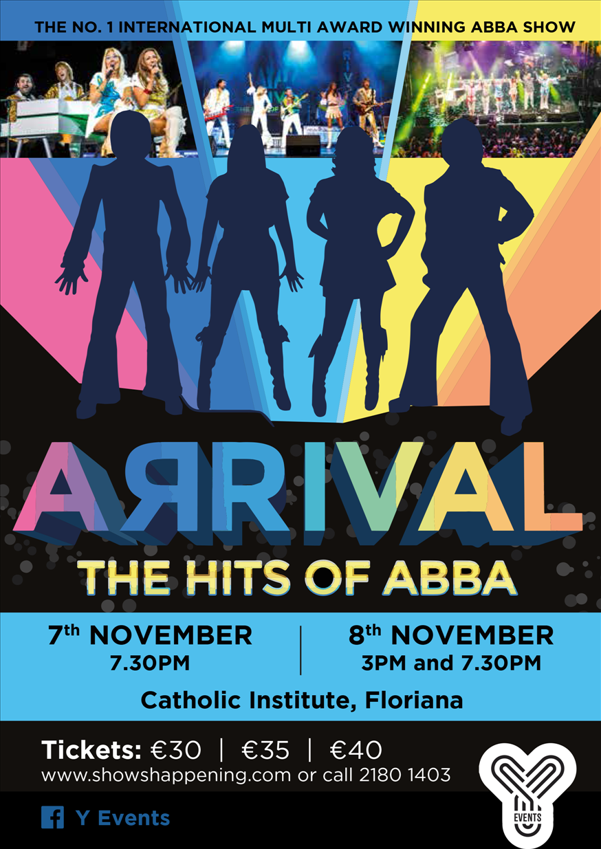 ARRIVAL - the Hits of ABBA flyer