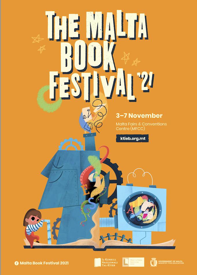 Irvine Welsh at The Malta Book Festival 2021 poster