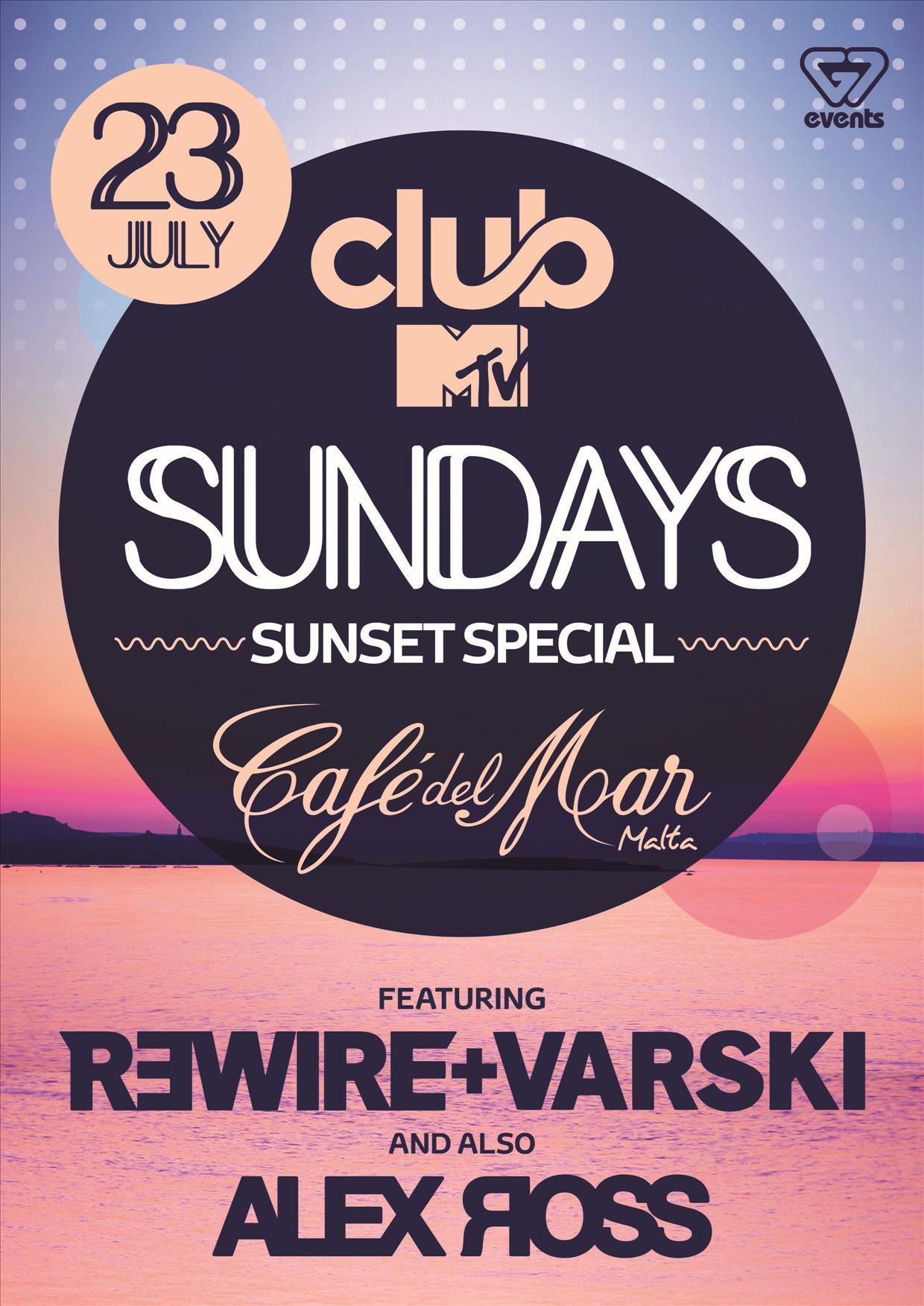 Club MTV Sundays present R3WIRE+VARSKI & ALEX ROSS flyer