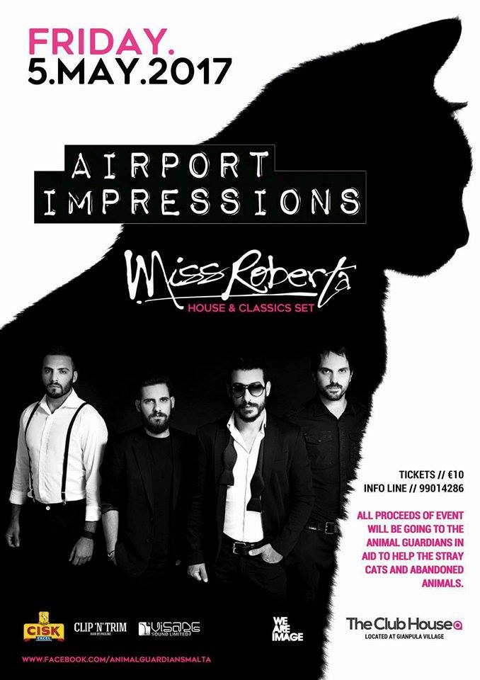 AIRPORT IMPRESSIONS & MISS ROBERTA @ The ClubHouse flyer