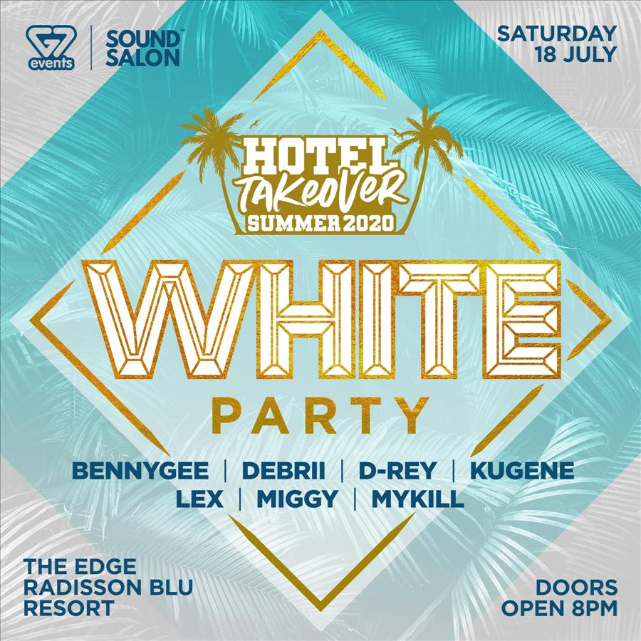 Hotel Takeover White Party flyer