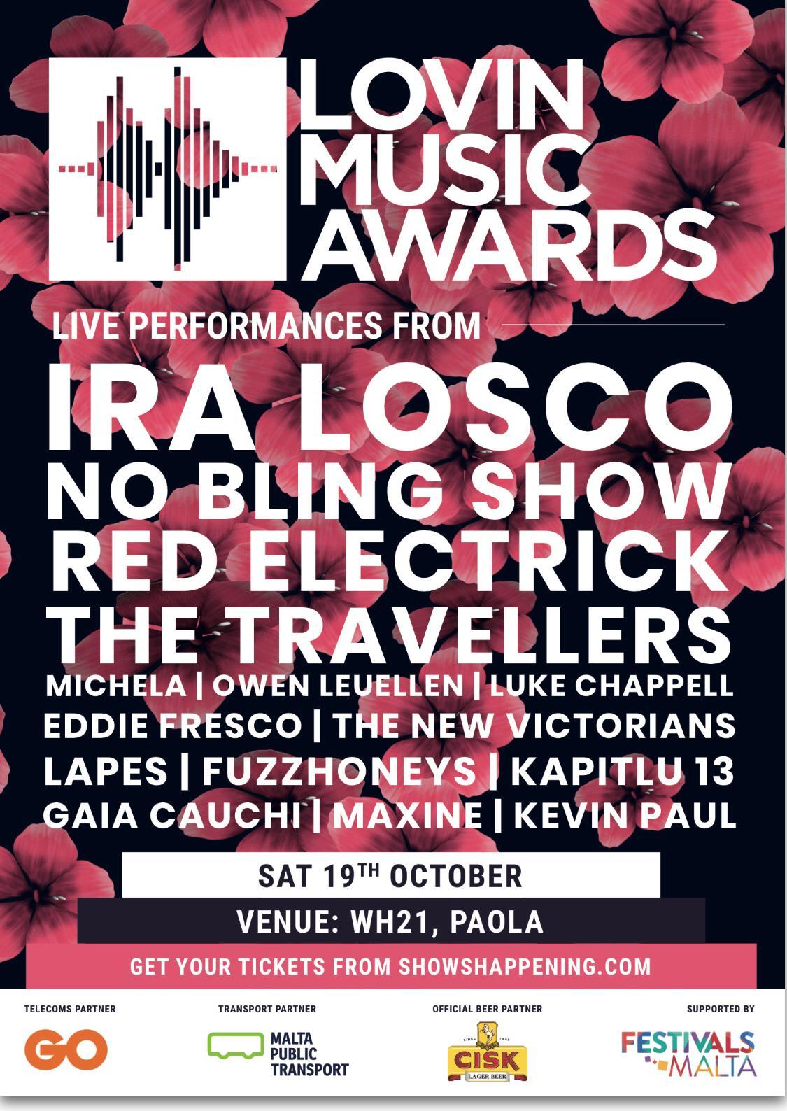 Lovin Music Awards flyer