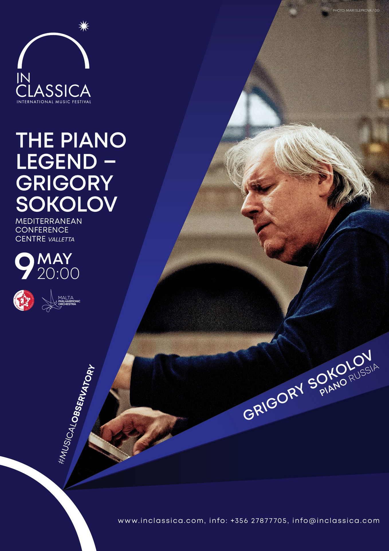 InClassica: THE PIANO LEGEND – GRIGORY SOKOLOV flyer