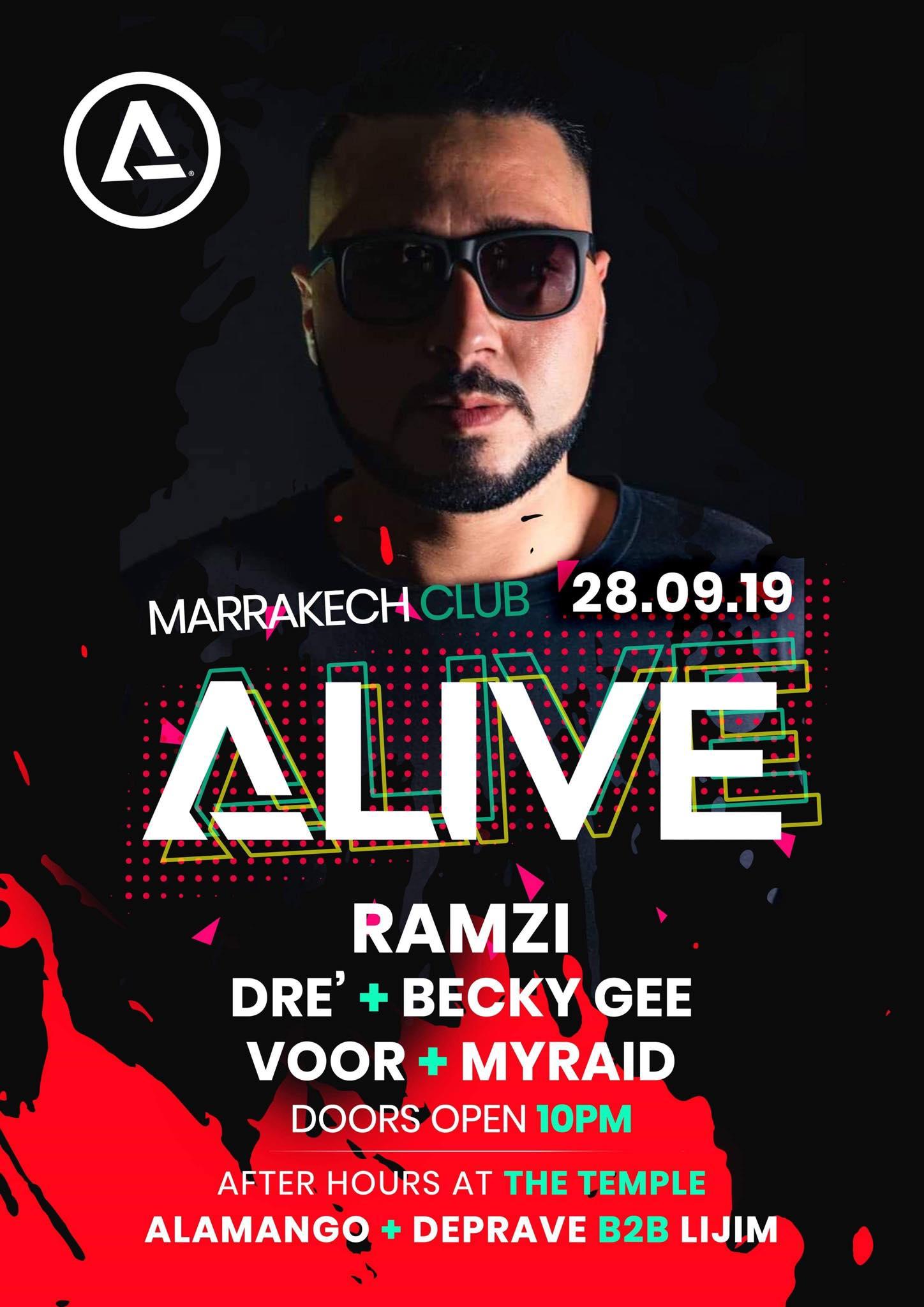 Alive End of Summer showcase flyer