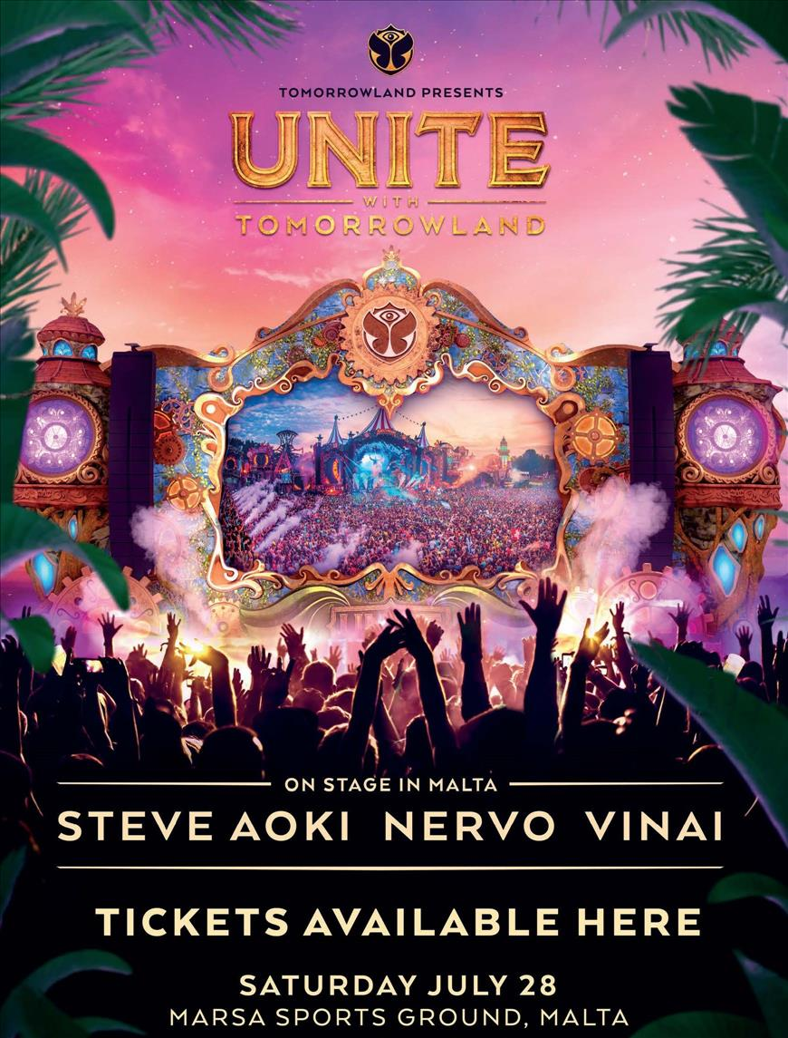 UNITE WITH TOMORROWLAND MALTA | 2018 flyer