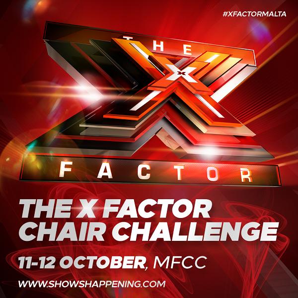 The X Factor Malta Chair Challenge flyer