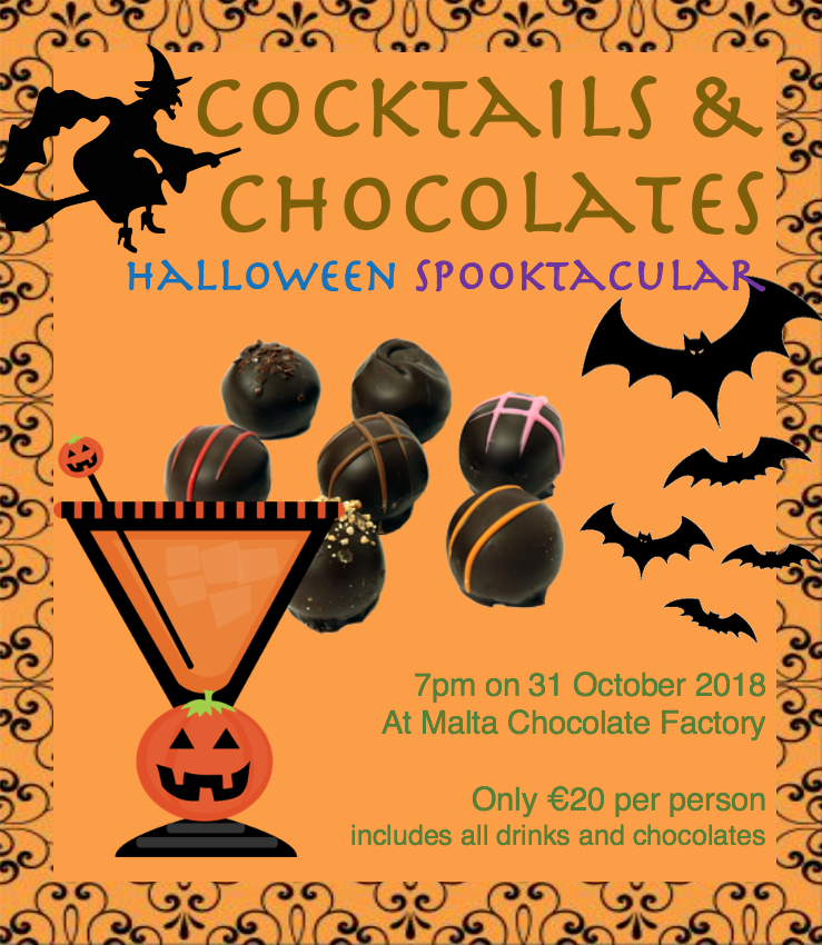 Spookalicious Cocktail and Chocolate Pairing Masterclass flyer