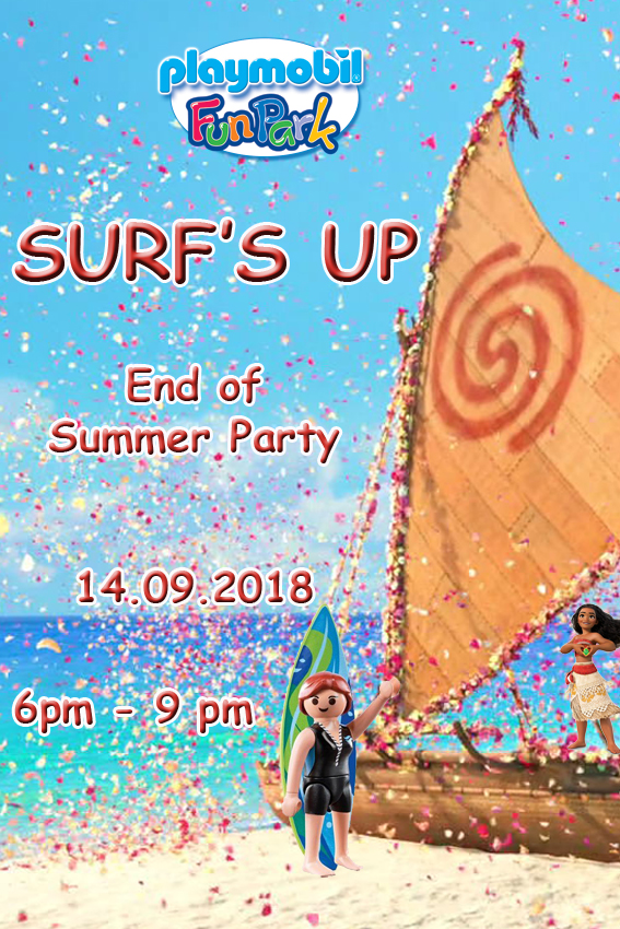 Surf's Up End Of Summer Party flyer