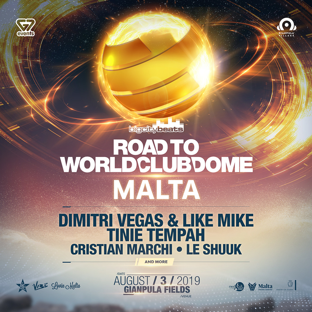 Road to World Club Dome Malta 2019 flyer