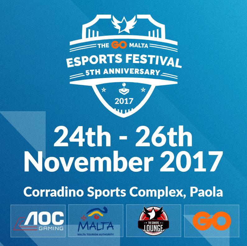 The GO Malta eSports Festival 2017 flyer