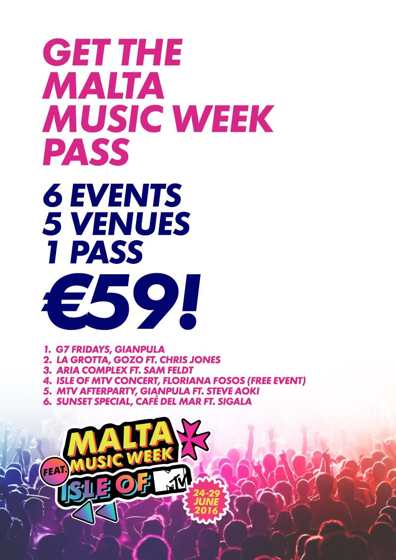 The Malta Music Week 2016 Pass flyer