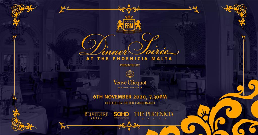 EBM Dinner Soirée at The Phoenicia Malta - Presented by Veuve Clicquot flyer