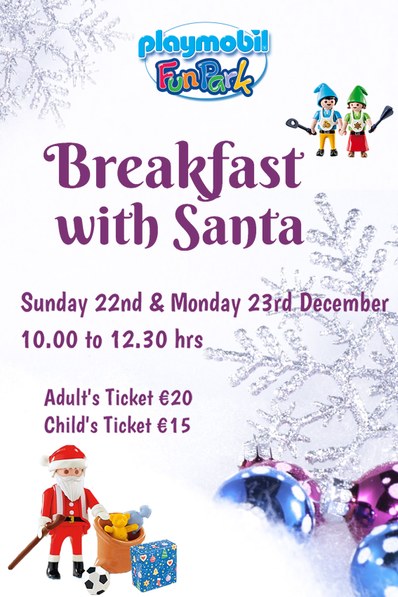 Breakfast with Santa at Playmobil Winter Wonderland flyer