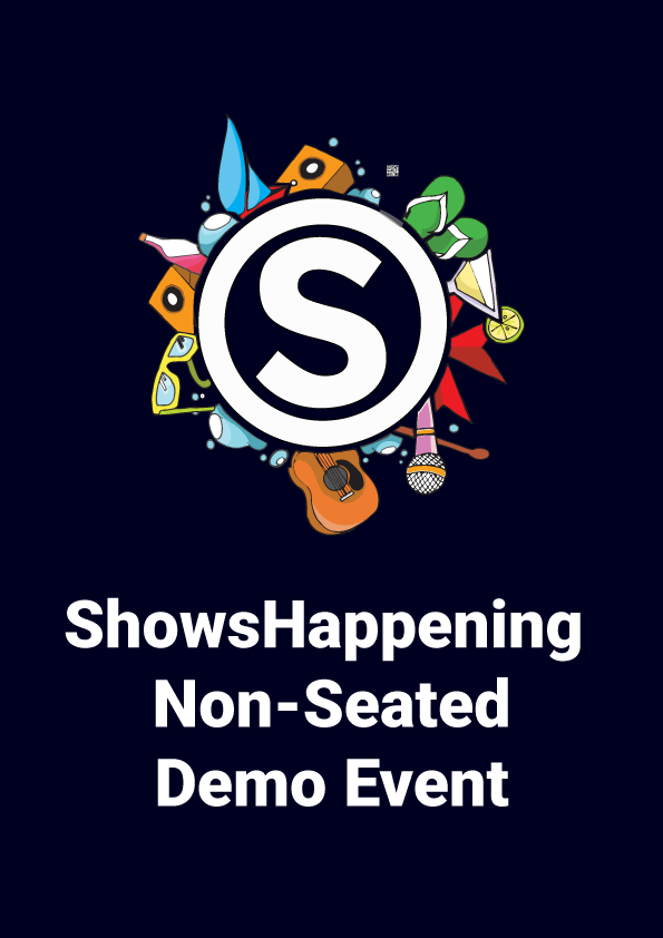 Non seated demo event poster