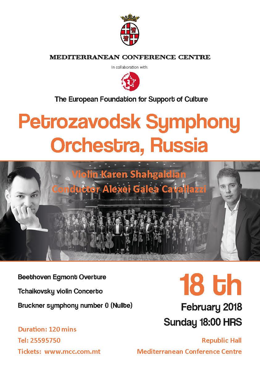 Bruckner and Tchaikovsky symphonic programme flyer