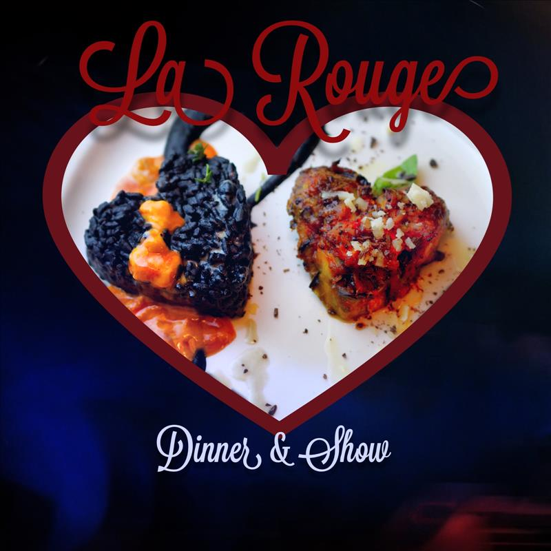 Valentine La Rouge Burlesque, Dinner and Show at Electro Lobster Project flyer